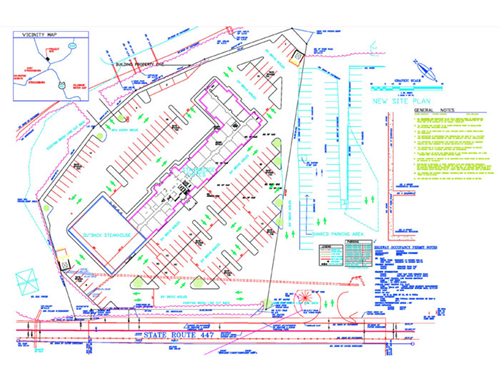 Civil Architectural Samples Gallery – Parking Layout Plan