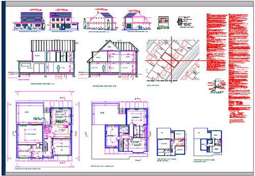 parking-layout-plan Plan, Section & Elevation