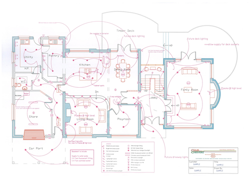 Electrical Services Drawing Sample Drawing